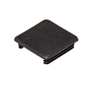 Strut channel plastic end caps - black