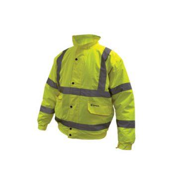 hi visibility bomber jacket yellow