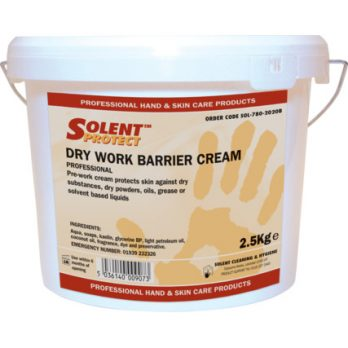 solent cleaners dry work barrier cream