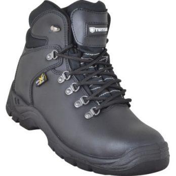black steel toe boots