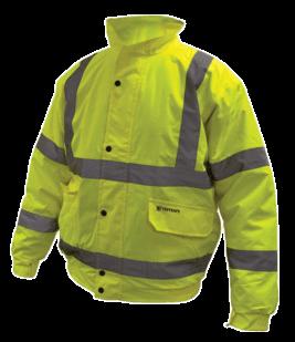 Yellow hi vis bomber jacket 1